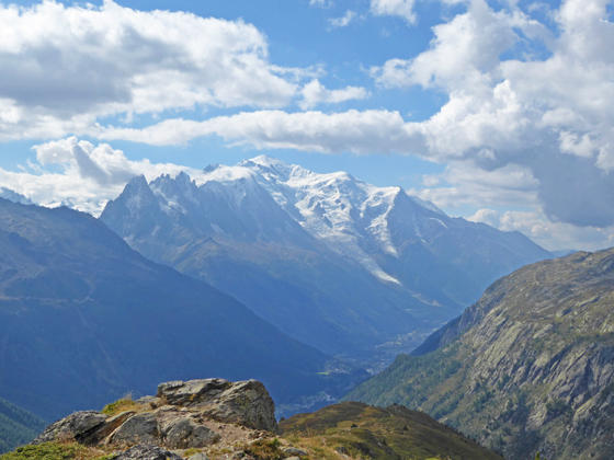 Looking toward Mont Blanc from Posettes