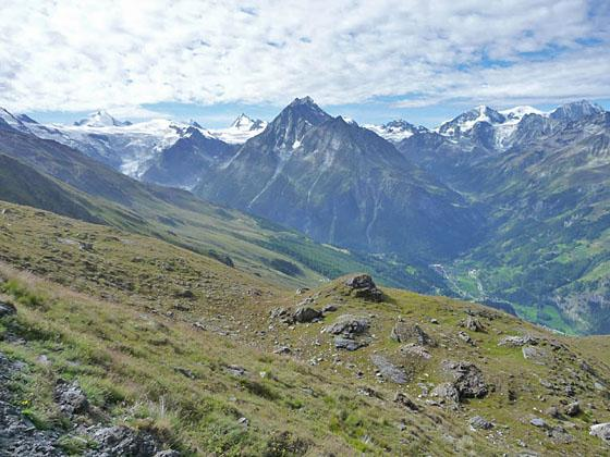 Panoramic view to the south near the Col Torrent