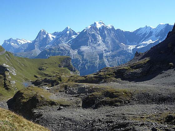 Great views of theWestterhorn, Eiger, Monch and Jungfrau
