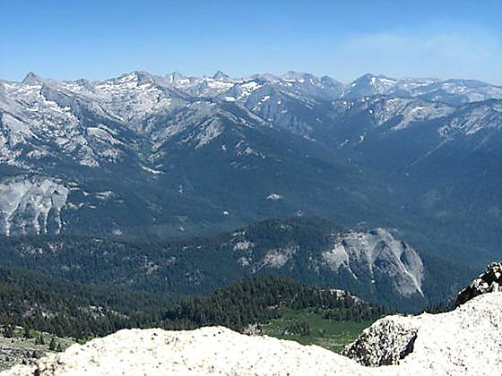 The Great Western Divid from Alta Peak.