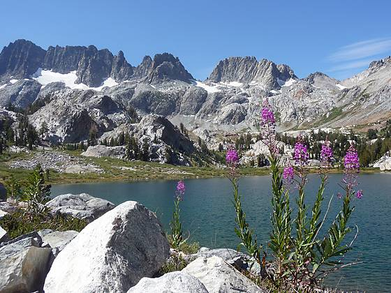 Ediza Lake and the Minarets