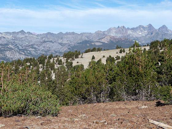 Great views of the Ritter Range along the Mammoth Crest