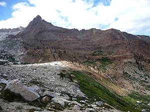 View of Mineral Peak on the trail to Sawtooth Pass