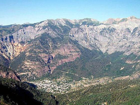 View of Ouray from the overlook