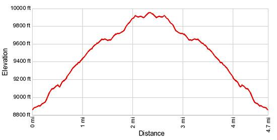 Elevation Profile - Beckwith Pass