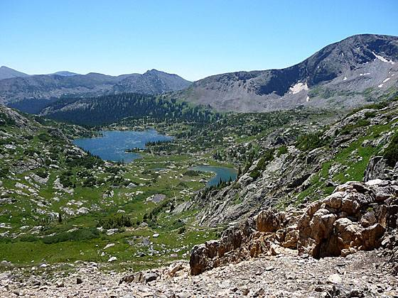 View of the Missouri Lakes Basin from Missouri Pass