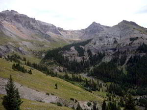 View looking back toward upper Mill Creek Basin