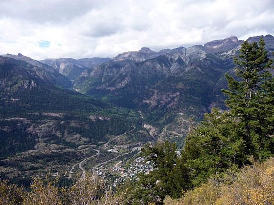 Great views to the southwest with Ouray in the foreground