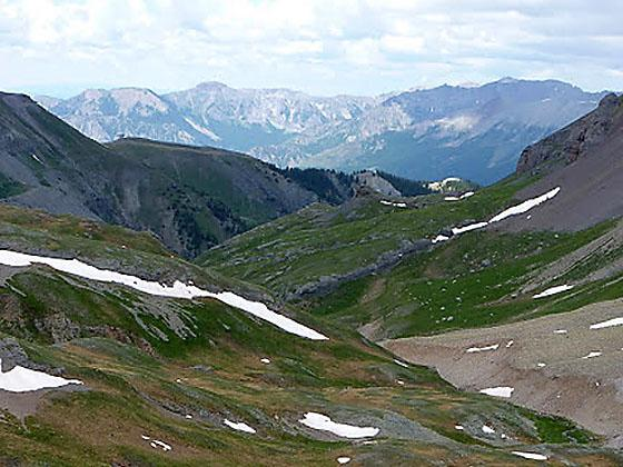 View to the northwest from near the top of the saddle