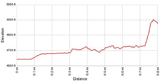 Elevation Profile - Monarch Cave
