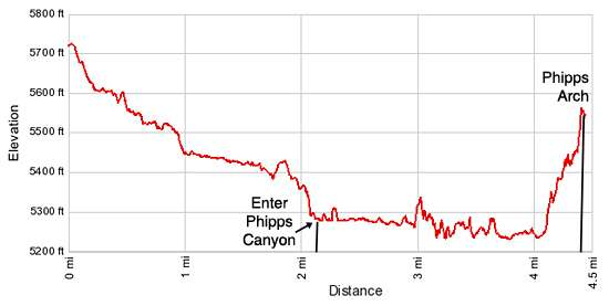 Elevation Profile for Phipps Arch