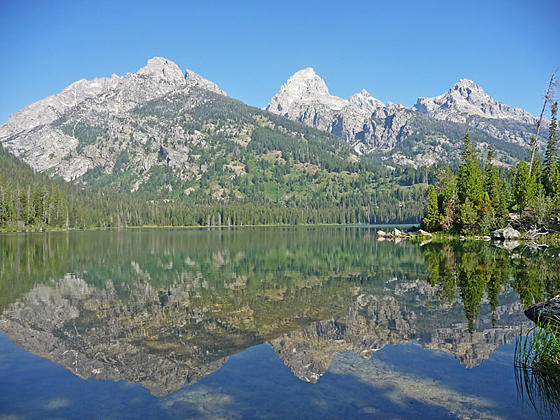 Teton reflection in Taggart Lake