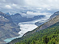 Close-up of Saskatchewan Glacier and Castleguard Mountain