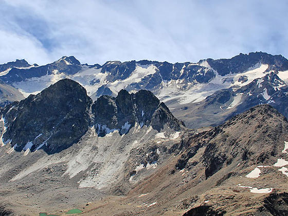 Piz Sarsara, Piz Vadret, the Grialetsch Glacier and Piz Radont
