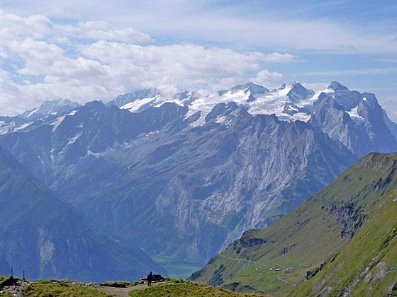 The Bernese Oberland peaks dominate the view to the southwest