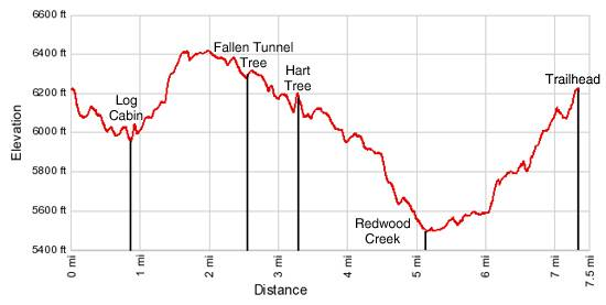 Elevation Profile Redwood Canyon Loop